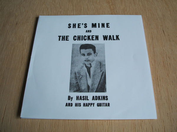 "hasil adkins She's Mine / Chicken Walk    air records repro reissue 7 "" mint"