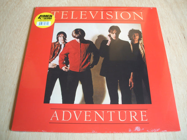 television   adventure  2017 4men with beards gold vinyl lp