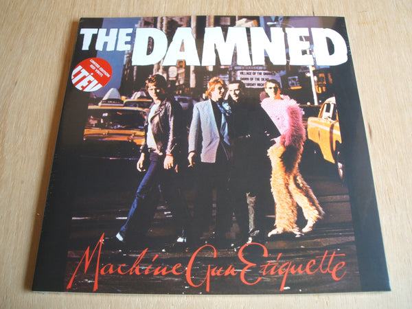 the damned Machine Gun Etiquette 2014 reissue red double vinyl lp