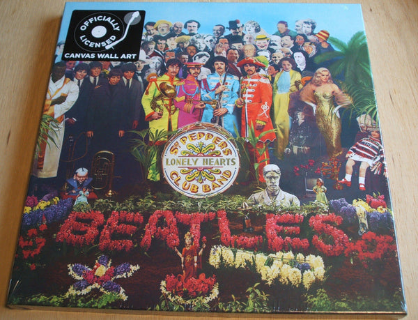 the beatles sgt peppers stretch canvas wall art 40cm x 40cm official