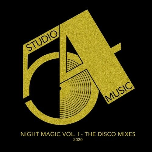 "Studio 54 Music JKriv- Night Magic Vol 1 The Disco Mixes 2020 Gold Vinyl 12"" EP"