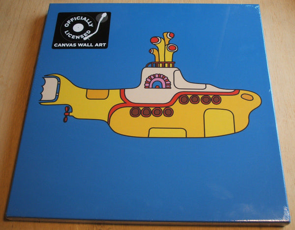 the beatles yellow submarine stretch canvas wall art 40cm x 40cm official