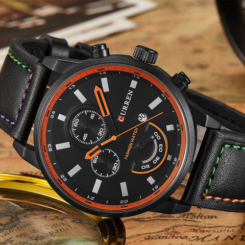 Leather Sports Watch - Topshelf7