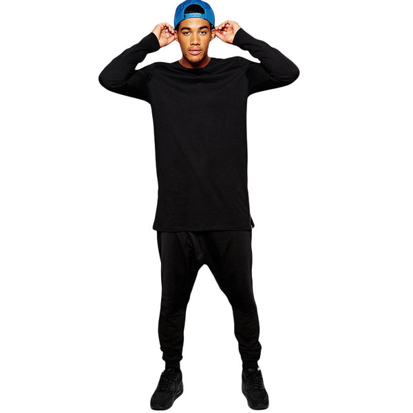 Long Sleeve Tall Tee With Side Zippers - Topshelf7