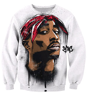 2Pac Mural Crew Neck