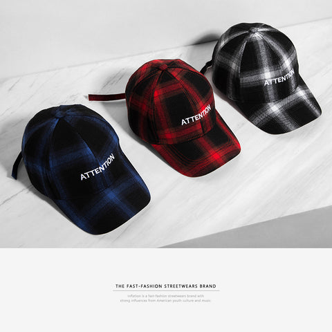 Attention Flannel Dad Hat - Topshelf7