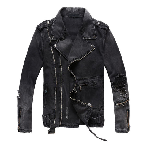 Biker Denim Jacket - Topshelf7