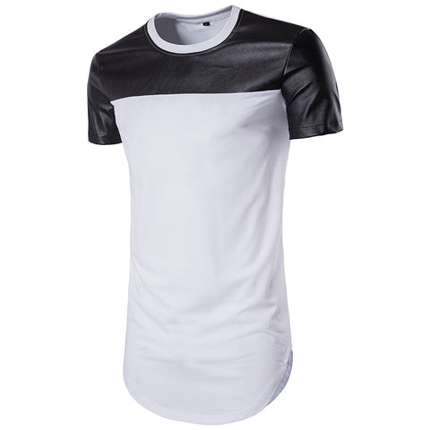 Leather Patchwork Tee - Topshelf7