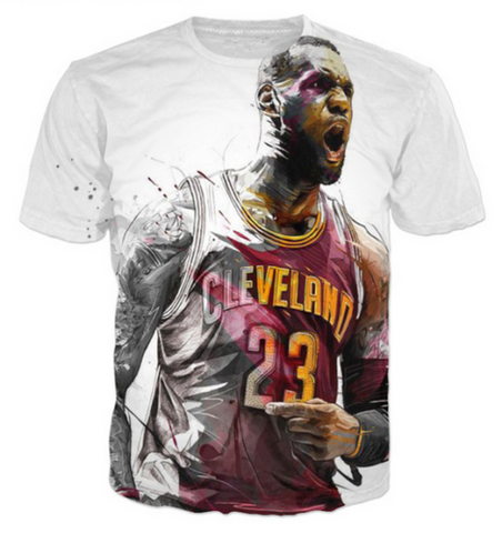 Lebron James Abstract Tee - Topshelf7