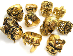 15pcs Skull Ring Assortment