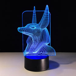 3D Egyptian Gods Illusion Lamp (7 Color Change)