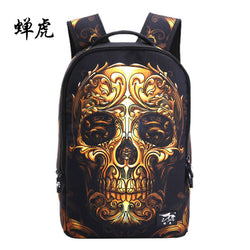 3D GOLDEN SKULL BACKPACK