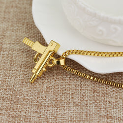 Uzi Machine Gun Pendant Necklace