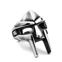 Ancient Armor Face Shield Skull Ring