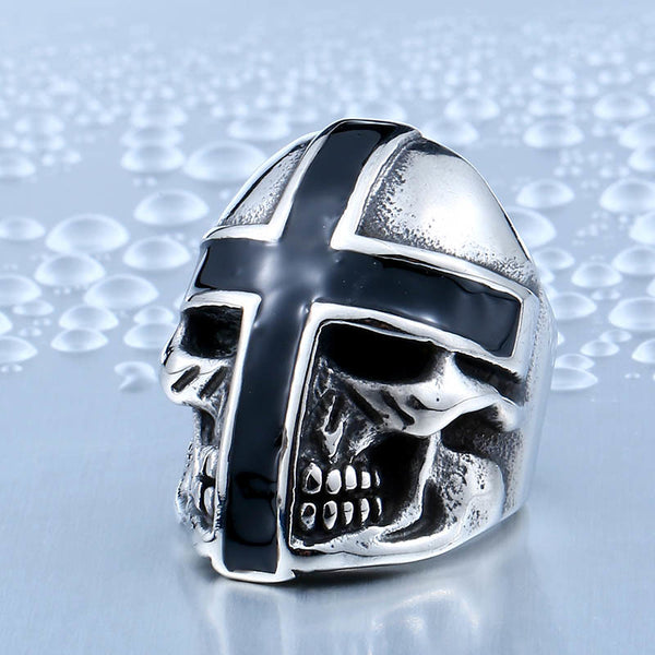 Teutonic Knight Skull Ring