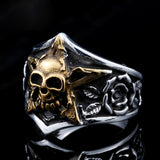 Skull & Rose Star Ring
