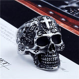 Skull Ring with Gold or Silver Cross