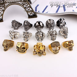 10pc Skull Ring Assortment