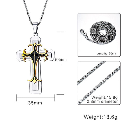 Multi-Layer Cross Necklace