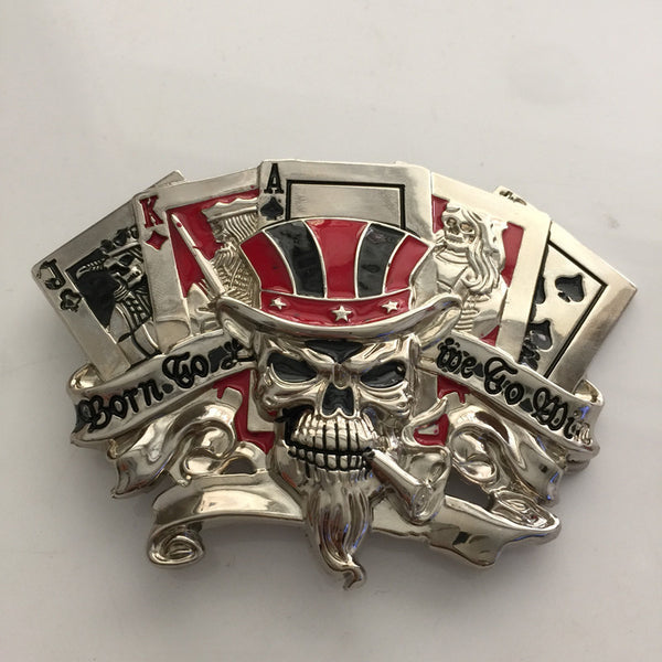 Skull Playing Cards Belt Buckle (10JQKA)