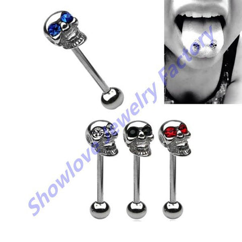 Barbell Tongue / Nipple Rings 4pc/set Assorted color