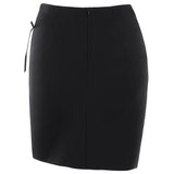 Lace Up Asymmetric High Waist Bodycon Mini Skirt