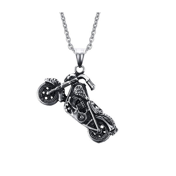 Ghost Rider Motorcycle Biker Pendant Necklace
