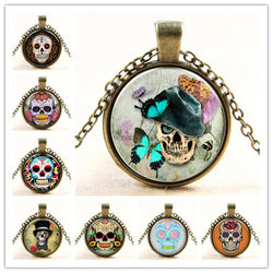 GLASS DOME SKULL PENDANTS & NECKLACES