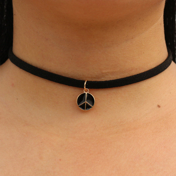Peace Choker Necklaces