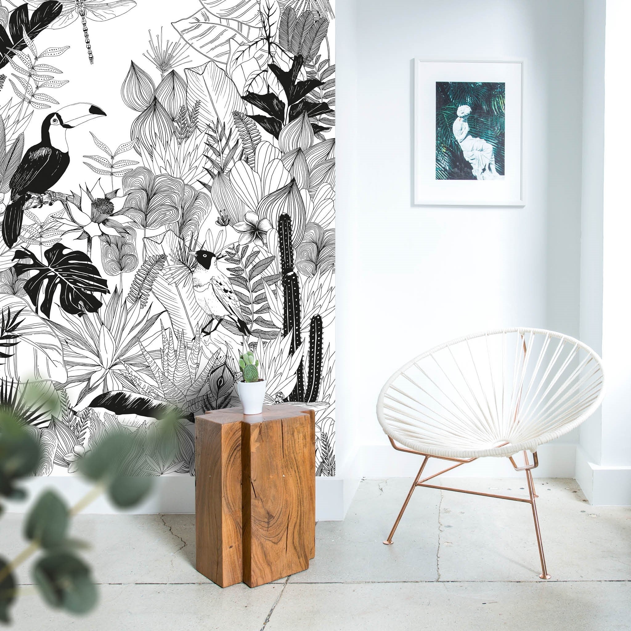 fresque murale magn tique jungle les claquettes. Black Bedroom Furniture Sets. Home Design Ideas