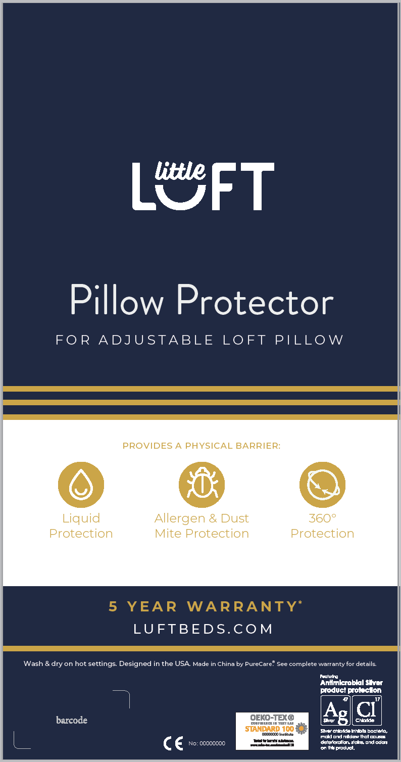 Little Luft Adjustable Loft Pillow Protector