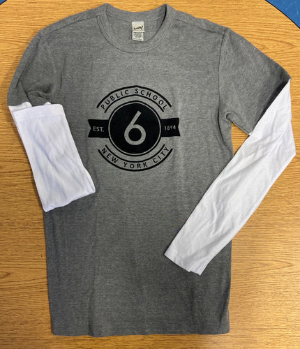 Round Logo 2-in-1 Long Sleeve Shirt