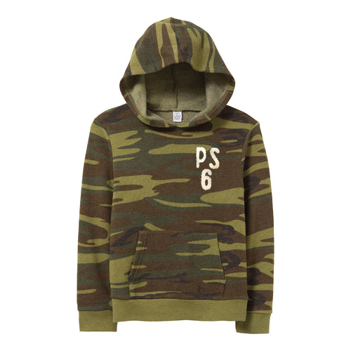 Vintage Style Camo Pullover Hooded Sweatshirt