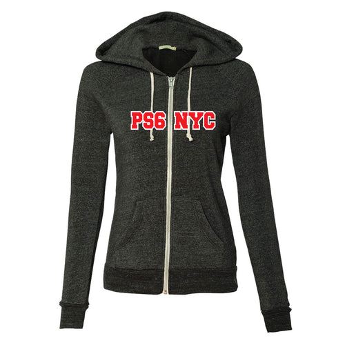 PS 6 Adult Zip Front Hooded Sweatshirt