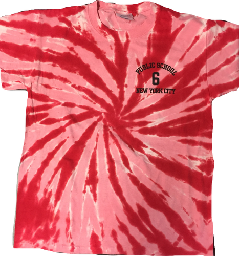 Youth Red Short Sleeve Tie Dye Shirt