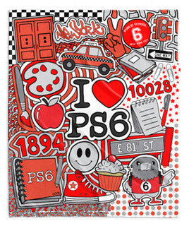 Corey Paige x PS 6 Super Soft Blankets - Vivid or Red+Black Colors - 50 x 60