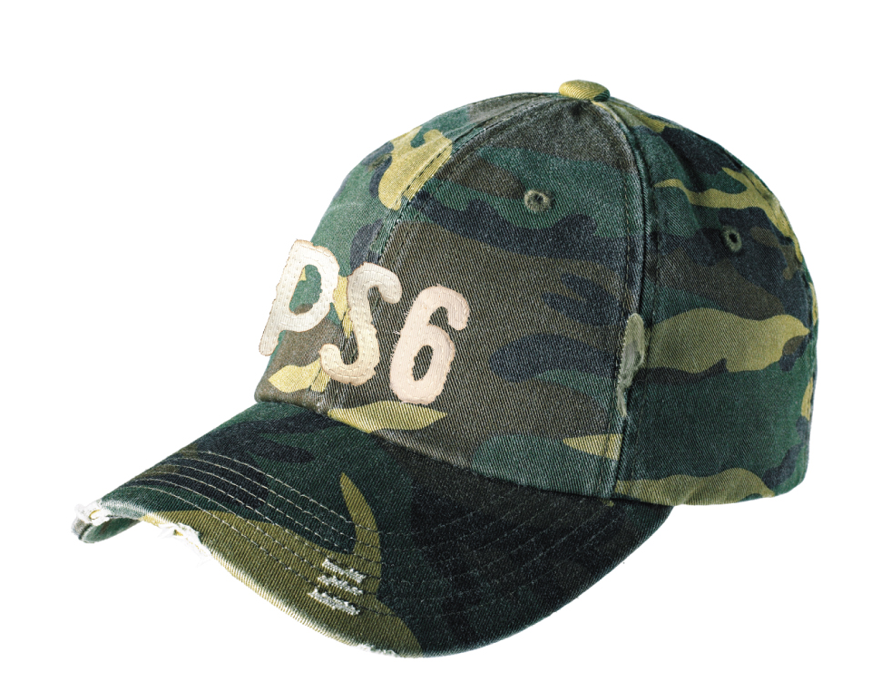 Vintage Style PS 6 Camo Baseball Hat