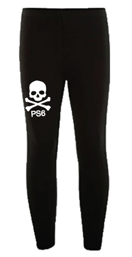 Black legging with PS 6 sparkle skull