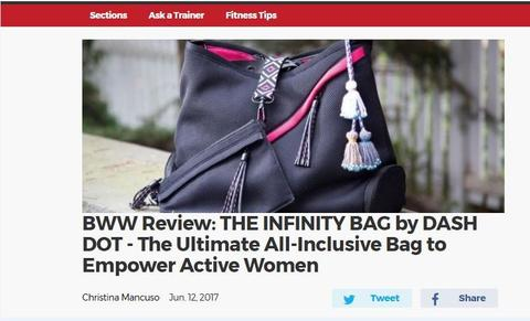 The Infinity bag by Go Dash Dot - The ultimate all-inclusive bag to empower active women