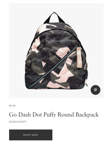 Puffy Round Backpack