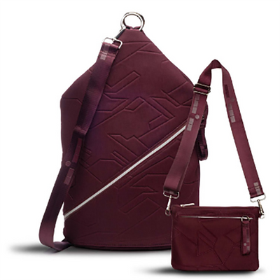Go Dash Dot Sling Bordeaux with matching pouch