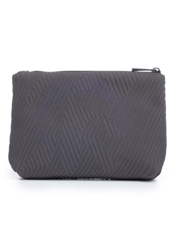 Go Dash Dot Makeup Case - Gray - Back View