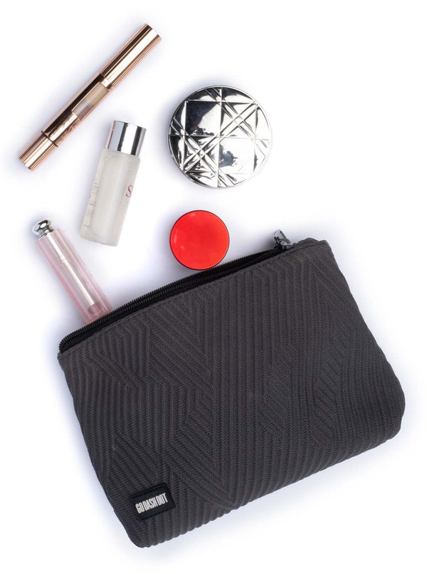 Go Dash Dot Makeup Case - Gray - Room for What You Need!