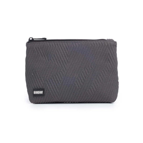 Go Dash Dot Makeup Case - Gray - Front View