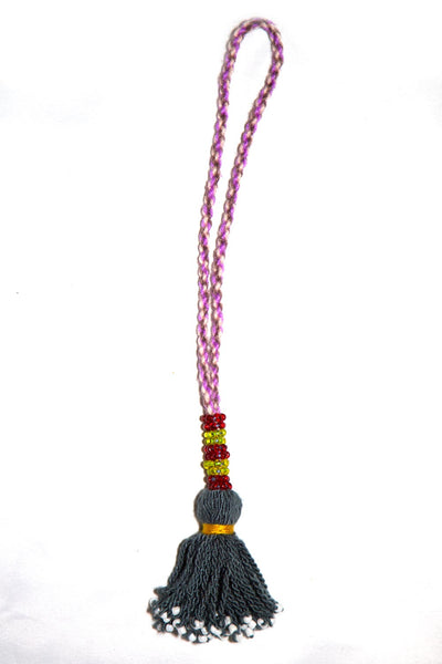 Go Dash Dot Accessory Tassel - Dark Grey