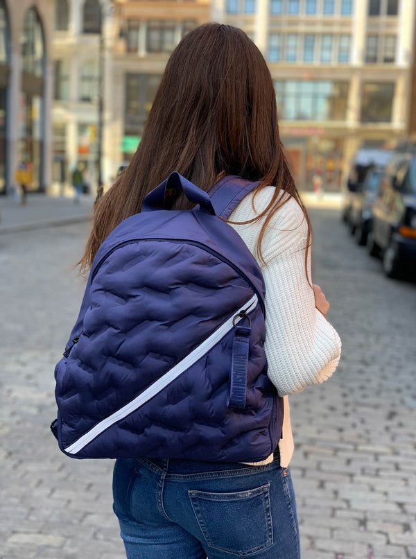 Round Backpack Puffy Navy