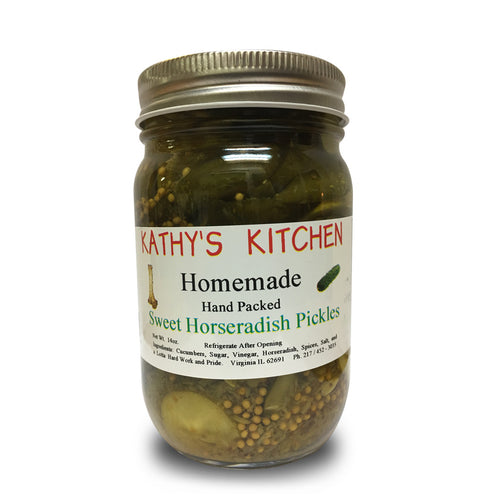 Sweet Horseradish Pickles