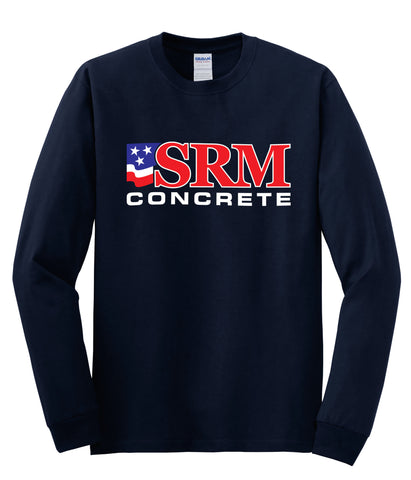 Navy Heavy Cotton™ 100% Cotton Long Sleeve T-Shirt