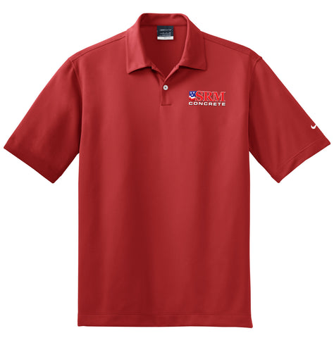 Men's Red Dri-FIT Pebble Texture Polo