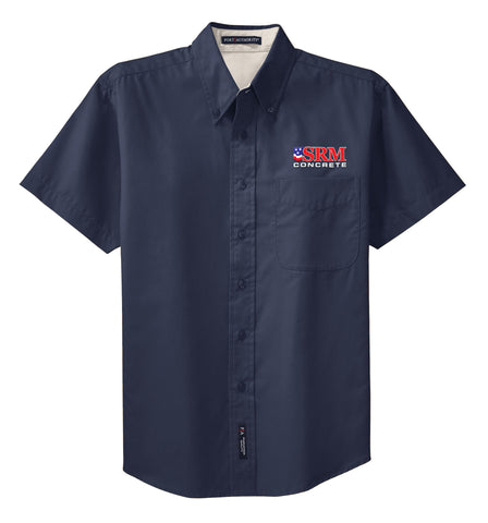 Men's Navy Short Sleeve Easy Care Shirt